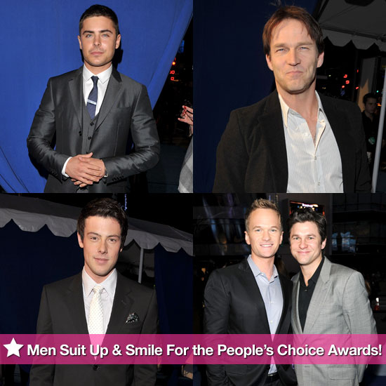Zac Efron, Neil Patrick Harris, Stephen Moyer, and the Guys of Glee Suit Up and Smile For the People's Choice Awards