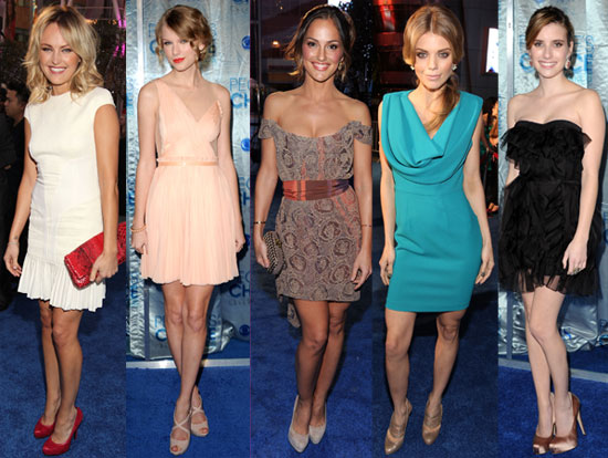 Taylor, Emma, AnnaLynne, and Minka Make a Splash on the People's Choice Awards Blue Carpet!