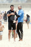 Liev Schreiber Takes a Shirtless Shower After a Surfing Session