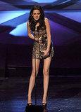 Leggy Kristen Stewart Sparkles in Reem Acra at People's Choice Awards