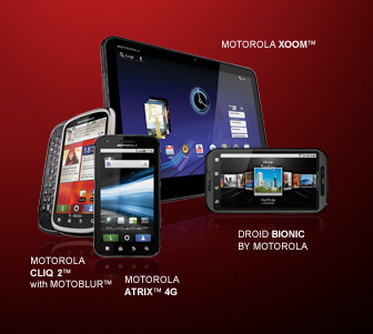 Pictures of the Motorola Xoom and Droid Bionic