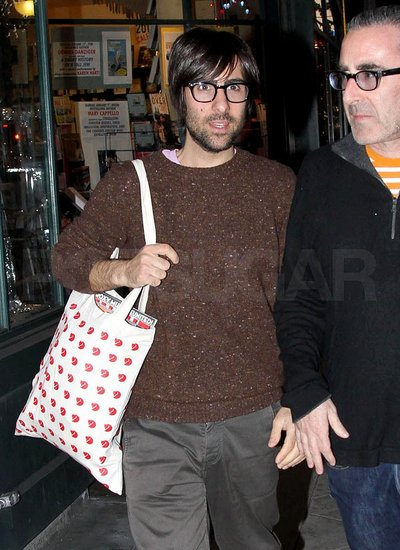 New Dad Jason Schwartzman Stocks Up on Reading Material