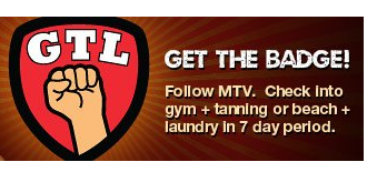 Foursquare and MTV's GTL Jersey Shore Badge