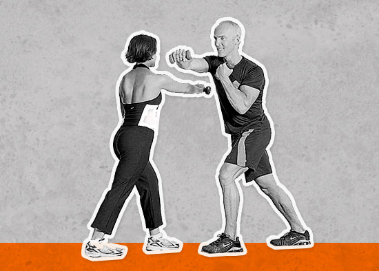 Warm Up: Shadow Boxing With Dumbbells 
