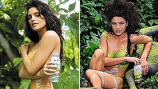 Video of Jessica Szohr Wearing a Body Paint Bikini 2011-01-07 14:54:26