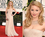 Dianna Agron at 2011 Golden Globe Awards