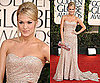 Carrie Underwood in sparkly Badgley Mischka at 2011 Golden Globe Awards