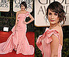 Lea Michele in Oscar de la Renta at 2011 Golden Globe Awards