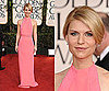 Claire Danes in pink Calvin Klein at 2011 Golden Globe Awards