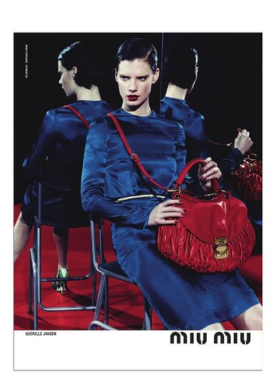 Querelle Jansen for Miu Miu, by Mert Alas and Marcus Piggott