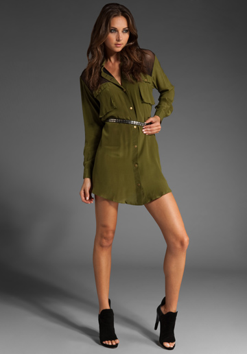 Shakuhachi Utility Mesh Shirt Dress ($206, originally $343)