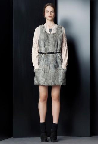 A fur dress from Phillip Lim.