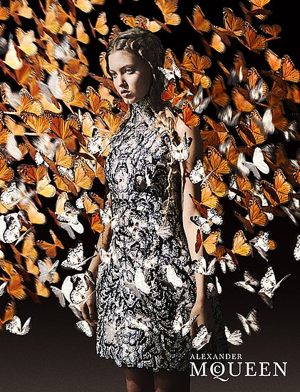 Lindsey Wixson for Alexander McQueen, by Anne Deniau