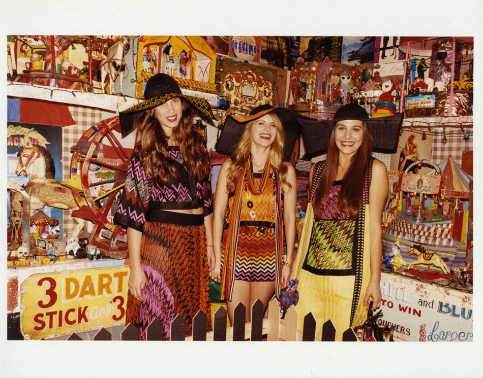 Tatiana Santo Domingo, Eugenie Niarchos, and Margherita Missoni for Missoni, by Juergen Teller
