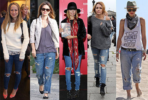 Celebrities in Ripped Jeans