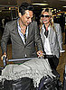 Pictures of Kate Moss and Jamie Hince at Heathrow Airport After Holiday in Thailand