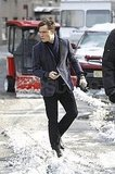 Ed Forgoes Snowy Gear For Chuck's Chic Attire on Set With Penn
