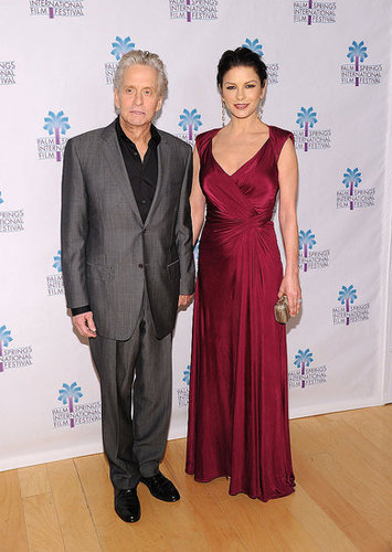 Pictures of Michael Douglas and Catherine Zeta-Jones at Palm Spring Film Festival