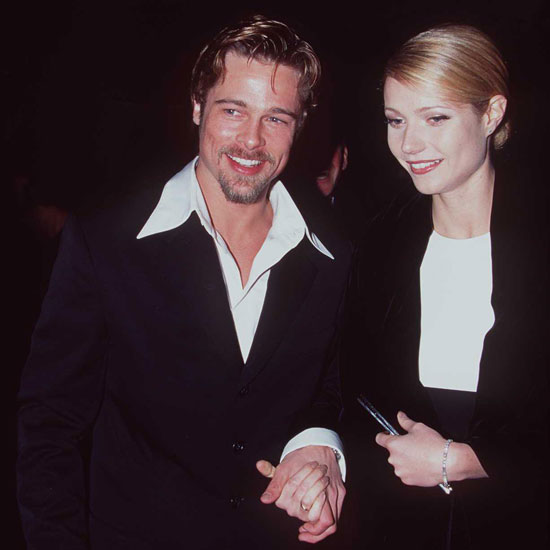 Brad Pitt and his then girlfriend Gwyneth Paltrow arrived at the show in 1996.