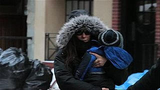 Video of Sandra Bullock and Louis Bullock in the Snow in New York 2011-01-13 12:28:52