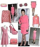 Think pink à la Ginnifer Goodwin's Valentino dress.