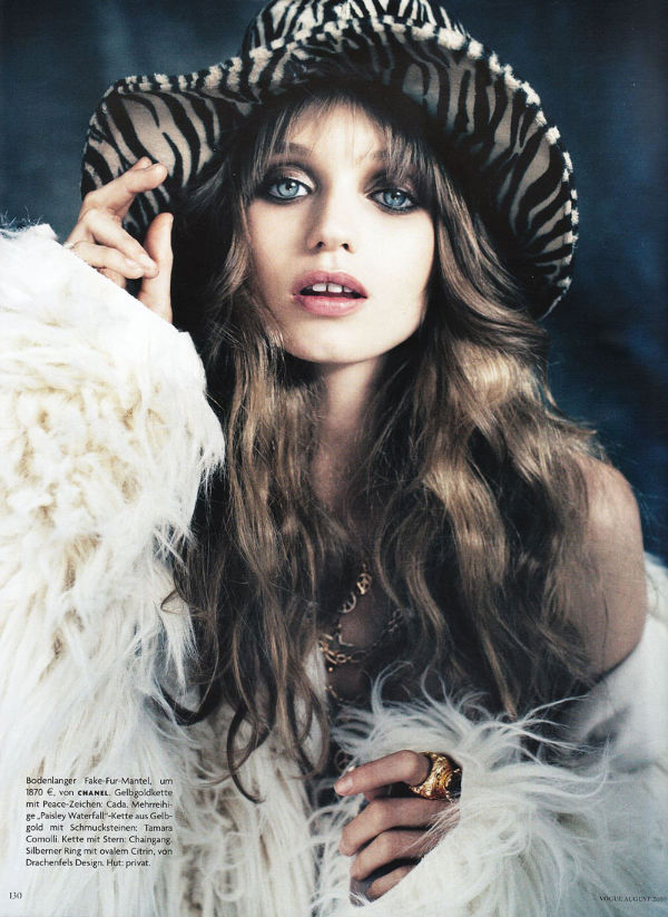 Abbey Lee, the glam hippie, for Vogue Germany.