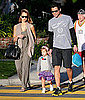 Pictures of Jessica Alba, Cash Warren, and Honor Warren Grocery Shopping in LA