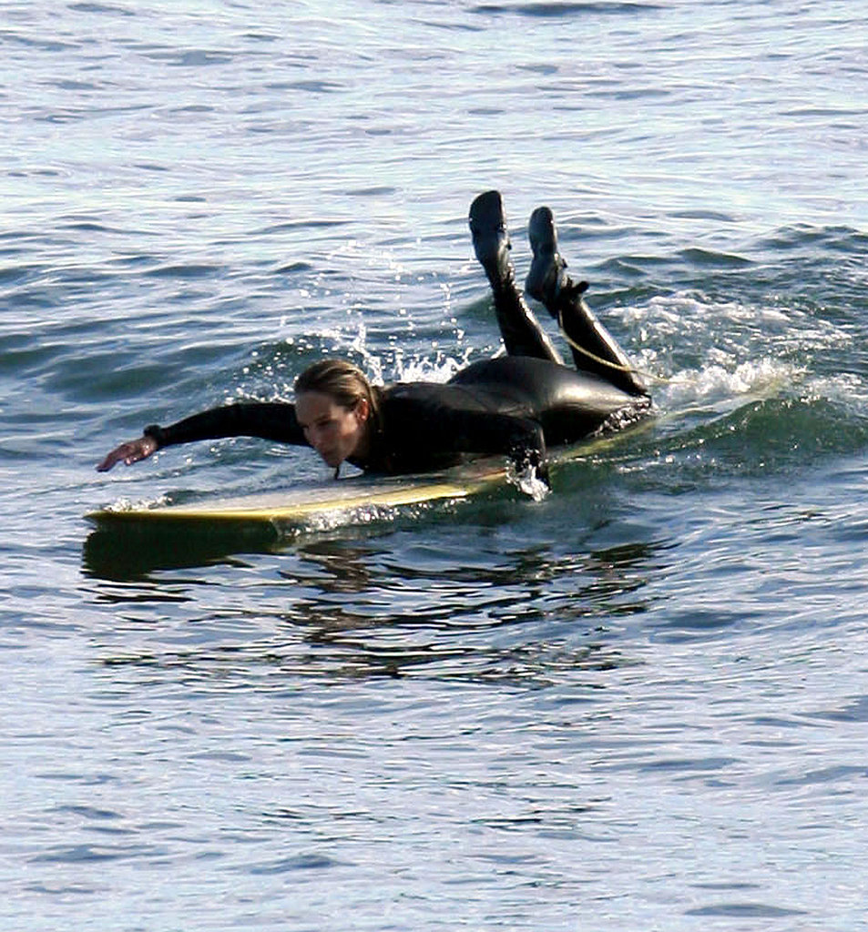 Helen Hunt Shows Off Her Bikini Body During a Day of Surfing in Malibu