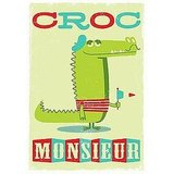 Peskimo's Croc Monsieur giclee print ($38) makes an ode to one of my favorite French sandwiches, and it sure gives me a laugh!