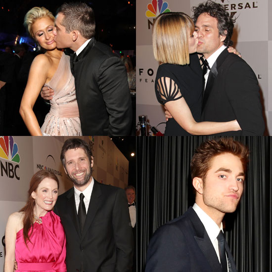 Passionate PDAs at NBC Universal's Golden Globes Afterparty