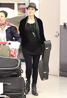Pictures of Marion Cotillard Pregnant at LAX