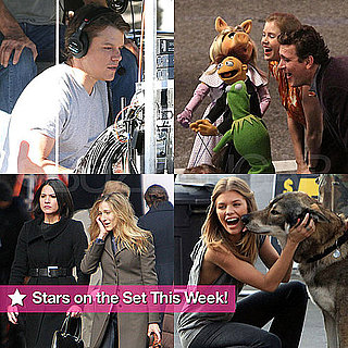 Pictures of Matt Damon, Sarah Jessica Parker, Amy Adams on Set