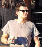 New Dad Orlando Bloom Smiles Bright For Baby Flynn!