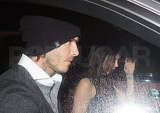 Pictures of David Beckham in London With Pregnant Victoria Beckham