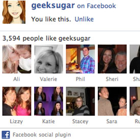 GeekSugar's Facebook Fan Page