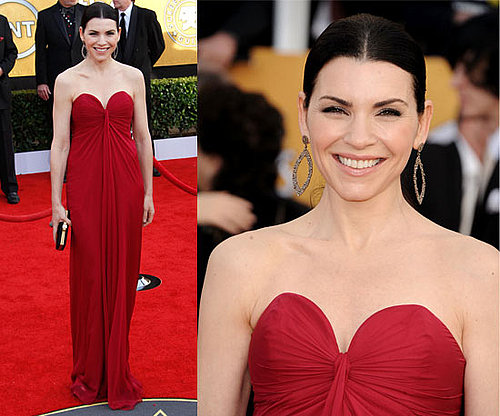 Julianna Margulies in red YSL at 2011 SAG Awards