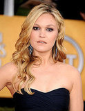 Julia Stiles's Ippolita earrings looked amazing against her blond waves.