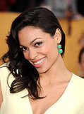 You can tell Rosario Dawson was loving her bright, jade earrings by Susie Fox Jewelry.