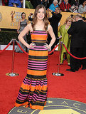 Hailee Steinfeld rocked Prada's Spring stripes in her totally fun gown.