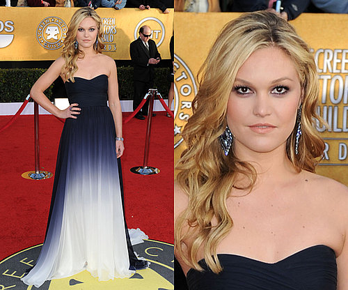 Julia Stiles Wears Monique Lhuillier Ombre Gown to SAG Awards 2011