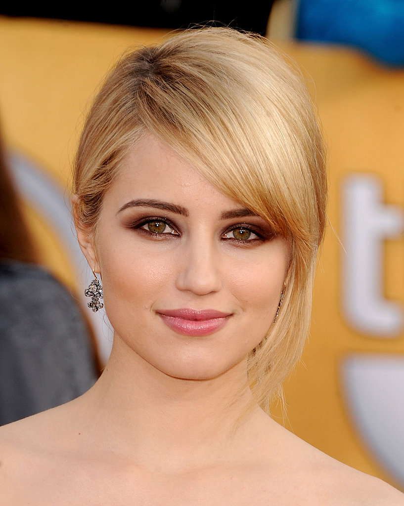 When wearing Chanel lace like Dianna Agron, all you need are demure cluster earrings.