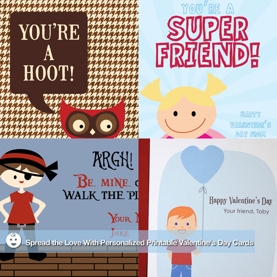 Spread the Love With Personalized Printable Valentines