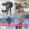 Pictures of Shirtless Matthew McConaughey With Levi and Vida at the Beach