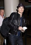 Nina Dobrev and Ian Somerhalder Fly the Friendly Skies Together