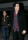 Andrew Garfield and Shannon Woodward Make Time For Movie Night