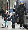 Pictures of Chris Martin With Moses and Apple in London