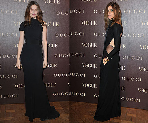 Laetitia Casta and Carine Roitfeld at Gucci Dinner in Paris