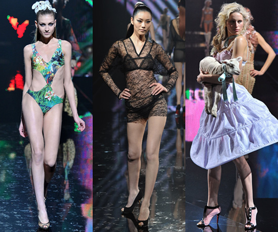 Photos of Etam Lingerie Show in Paris with Karolina Kurkova