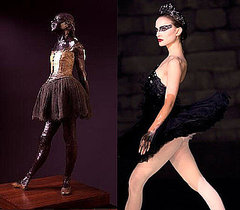 Edgar Degas&#039;s Little Dancer Statue at Norton Simon Museum Inspired Black Swan Costumes