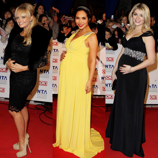 Pictures of Pregnant Stars on National Television Awards 2011 Red Carpet Including Holly Willoughby, Emma Bunton, Myleene Klass